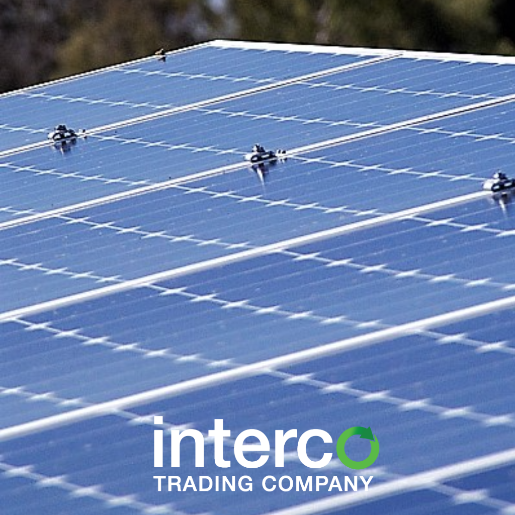 Recycling Solar Panels Interco Trading Company Circuit Board On Printed Blue Industrial