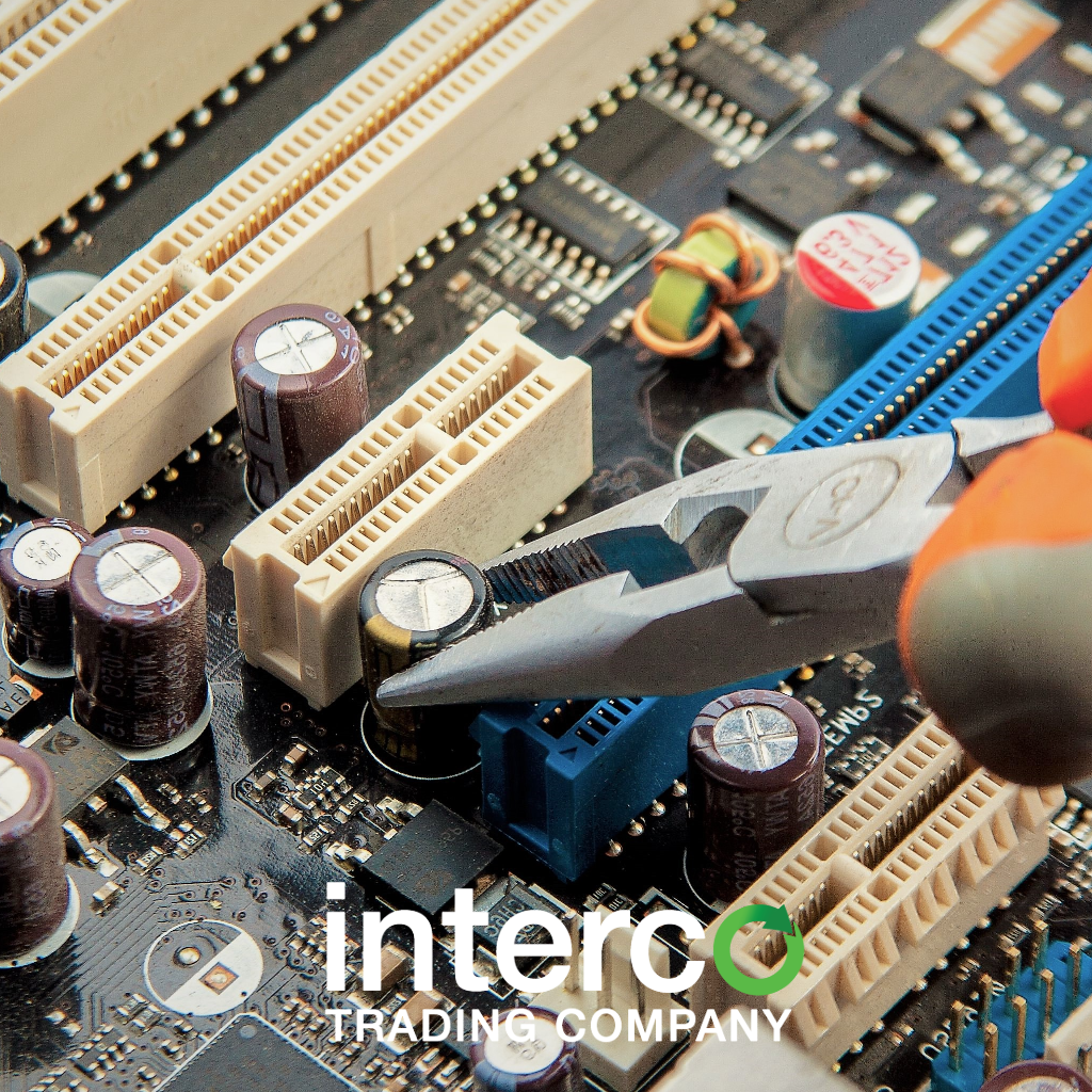 Interco Trading Company A Metaltronics Recycler Recycle Circuit Boards Concept Of Electronic Junk Recycling Printed Pcb
